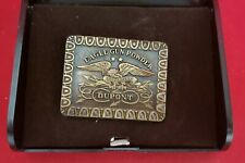 Powder in Case Superfine Eagle Vintage Belt Buckle Dupont Eagle Gun