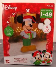 Gemmy Disney Christmas Xmas Mickey Mouse 5' Airblown Inflatable Display #12641