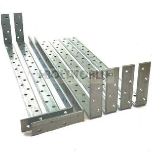 4mm THICK HEAVY DUTY CARBON STEEL WALL PLATE BENT RESTRAINT STRAPS GALVANISED
