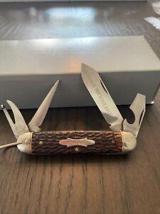 Vintage Schrade Cut Co Boy Scout Knife Nice