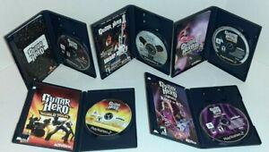 5 Game Lot Guitar Hero II III World Tour Rock The 80's PlayStation 2 PS2 CIB 2 3