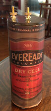 Antique Refillable Eveready Columbia Dry Cell Battery Telephone, Radio, Lantern