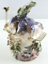 """Purple Tulip House"" Clayworks Ceramic Figurine Heather Goldminc - Orig Box"