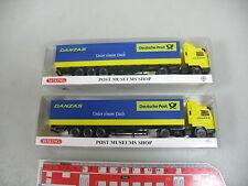 AK975-0,5# 2x Wiking H0 82-07 LKW/Sattelzug Scania 143 Danzas/Post, NEUW+OVP