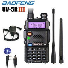 BAOFENG UV-5R III Tri-Band FM Walkie Talkie Two Way Radio + Speaker Mic + Cable