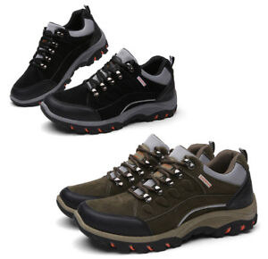 Mens Outdoor Breathable Hiking Waterproof Climbing Shoes Trainers Antiskid Boots