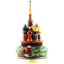 Boite à musique église russe St Basile de Moscou - Boite à musique Russe en bois