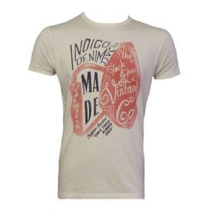 New Mens Jack & Jones Vintage Slim Fit T-shirt / Scissors Tee - Whisper White