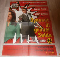 A1-Filmplakat  JERRY COTTON  Nr.6, DYNAMIT IM GÜNER SEIDE  , GEORG NADER