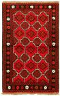"""Vintage Hand-Knotted Carpet 3'4"""" x 5'2"""" Traditional Oriental Wool Area Rug"""