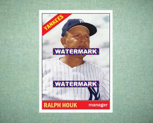 Ralph Houk New York Yankees 1966 Style Custom Baseball Art Card