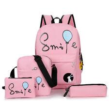 Backpack Set Tor Teenage Girls And Boys Ladies School Shoulder Bags Cute 4 Pcs