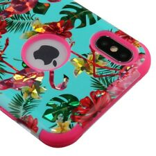 FOR APPLE IPHONE XS MAX TROPIC FLAMINGO TUFF 3-PIECE SHOCKPROOF CASE COVER