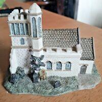 Attractive Vintage Miniature Pottery Village Church With Gravestones! VGC