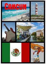 CANCUN, MEXICO - SOUVENIR NOVELTY SIGHTS FRIDGE MAGNET - NEW -  LITTLE GIFTS