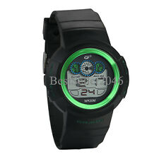 Mens Boys Digital Sports Watch Electronic LED Military Multifunction Wristwatch