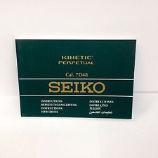 New SEIKO KINETIC Perpetual Original Watch Instructions booklet Cal. 7D48