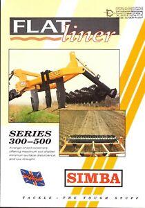 SIMBA UK FLATliner Series 300-500 Bodenauflockerer 90er Agrar-Prospekt 4 S  #608