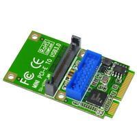 SSU U3121 Mini PCI-E Express to USB 3.0 19Pin 20Pin Header Card for Desktop E0Xc