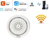 Temperature Humidity Alarm Sensor Wifi Siren Tuya Smart Life App Work with  R6O8