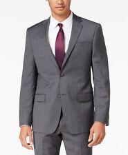 $665 DKNY Mens Slim Fit Wool Sport Coat Gray Check Plaid SUIT JACKET BLAZER 40 R
