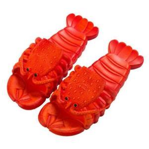 2021 New Women Men Crayfish Beach Slippers Animal Cute Lobster Slippers beach