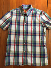 "Mens Ben Sherman S/S Plaid ""Triumph Red"" Blue, Green, Red, beige White BNWT"