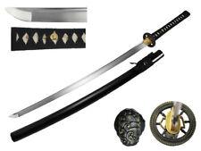 Functional Clay Tempered Katana 1060 Carbon Steel Buddhist Sacred Wheel Sword Rf