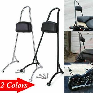 Sissy Bar Pad Passenger Backrest For Harley Sportster XL 883 1200 48 72 04-18 KN
