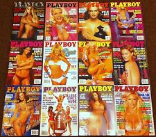 PLAYBOY MAGAZINE 2001 COMPLETE SET OF 12 ISSUES INCLUDING ALL CENTERFOLD POSTERS
