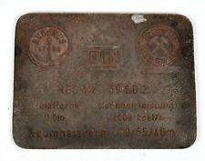 Vintage cast iron plate Buderus steam boiler