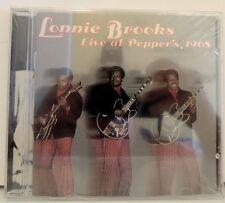 SEALED !  Lonnie Brooks CD Live at Pepper's, 1965, BT-1129, 1996