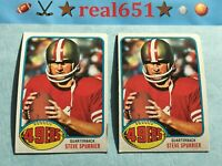 1976 Topps NFL #274 STEVE SPURRIER Lot x 2 | Decent Acceptable Vintage | 49ers