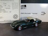 Danbury Mint 1968 Chevy Corvette Convertible British Green 1:24 Diecast Car