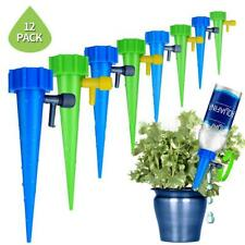 12Pcs Automatic Drip Irrigation Adjustable Emitters Stake Water Dripper System