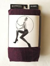 Express Women's Full Length Opaque Marled Tights Very Berry M/L New $16