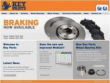 KEYPARTS KBD4443 BRAKE DISC PAIR fit Peugeot 407 1.6-2.0 04-