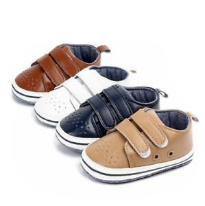 Infant Baby Boy Girl Soft Sole Crib Newborn Non-slip Shoes Sneaker 0-18 Months