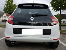 Auspuffblende Renault Twingo 3 III ab 2014 Edelstahl oval Endrohr Sportauspuff