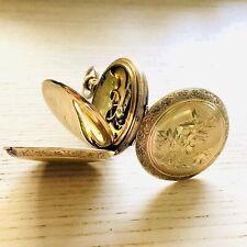 Vintage Elgin Rare Dial Fancy Pocket Watch Grade 95 7J 8s 10K RGP Display Case