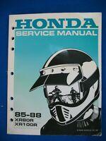 Honda 1985 1986 1987 1988 XR80R XR100R BRAND NEW Factory Service Shop Manual H79