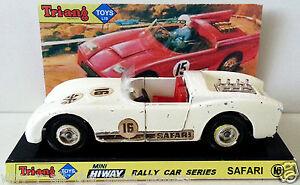 TRI-ANG Mini Hi-Way Rally Car Series SAFARI 16 Diecast Model on Custom Display