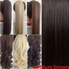 US seller blonde thick Clip In Hair Extension Pony Tail Wrap Around Ponytail G15