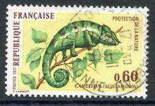 STAMP / TIMBRE FRANCE OBLITERE N° 1692 FAUNE / CAMELEON / ILE DE LA REUNION