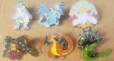 6 Official Pokemon Pins Mega Charizard Alakazam Mawile Lucario Zygarde ash misty