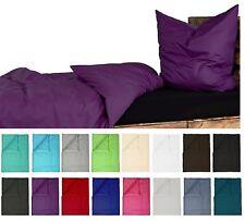 Bettwäsche Renforce Baumwolle 135x200 Kissenbezug 80x80 UNI Einfarbig Lila