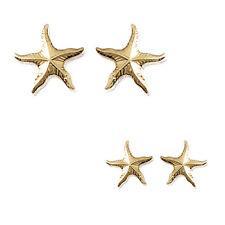 Paire de Boucles d'oreilles étoile de Mer Plaqué Or 18 carats