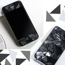 3pair 3D Triangle Screen Protector Front + Back Cover Film for iPhone 4 4G 4S