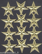STARS GOLD CELESTIAL FIVE POINT BEADED EMBOSSED FOIL DRESDEN GERMANY ORNAMENT