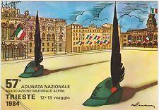 57° ADUNATA NAZIONALE ALPINI - TRIESTE 1984 - ILLUSTRATORE KOLLMANN